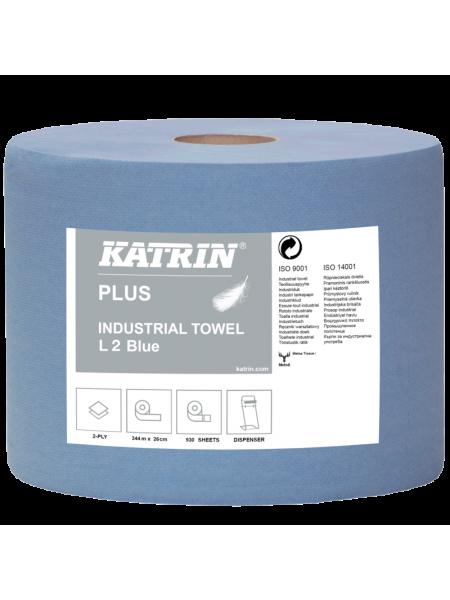 Katrin Classic Industrial Towel L 2 Blue - 2ruļļi/ipe