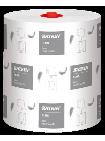 KATRIN Plus Easy M r/d ruļļos,2-slāņu,120m,balts,6ruļļi/ iep.