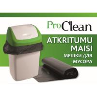 Atkritumu maisi ProClean melni, plānie