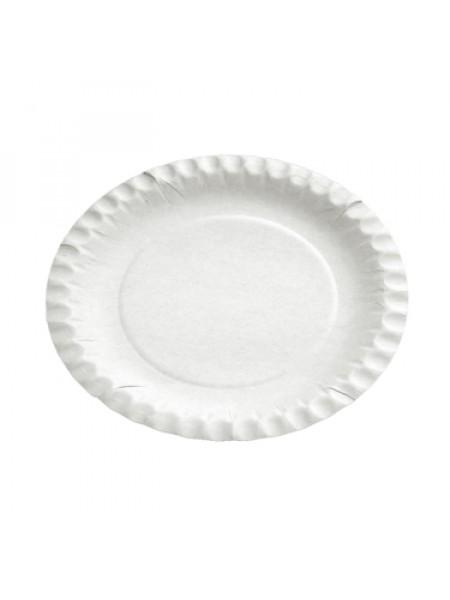 Kartona šķīvis Ø 18 cm/22 cm balts, 100 gab/pac.