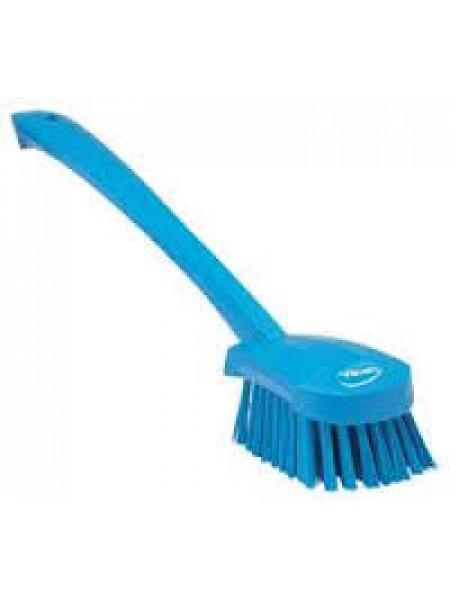 Vikan birste inventāra mazgāšanai ar garu kātu 400mm zila