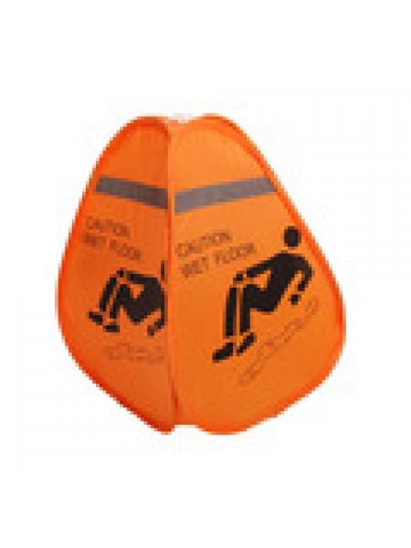 Brīdinājuma zīme orandža auduma