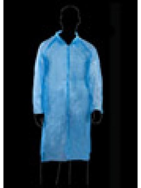 Vienreizēji halāti LDPE ABENA zili, 76x127cm