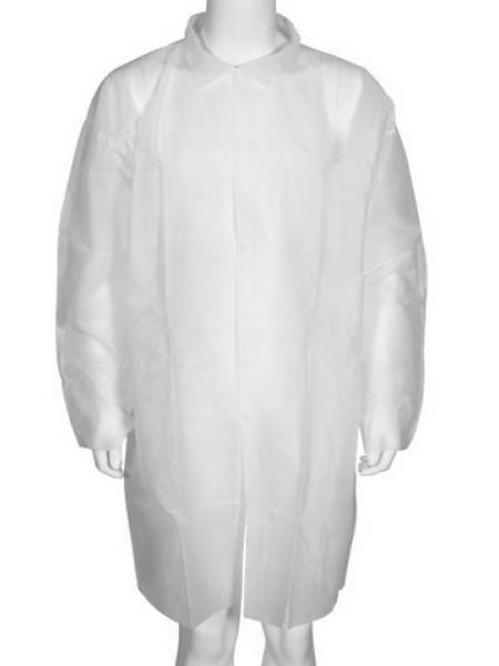 Vienreizēji polipropilēna halāti balti XL