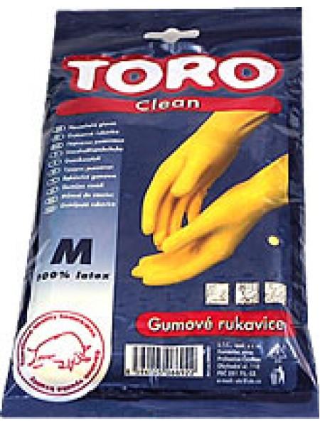 Cimdi gumijas Toro - izmērs S/M/L