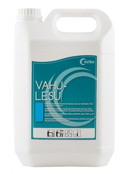 Vahu Lesu - 5L - Putojošs mazgāšanas līdzeklis pārtikas pārstrādes uzņēmumiem kūpināšanas krāšņu, cepešpannu, grillkrāšņu, cepeškrāšņu u.c. mazgāšanai.