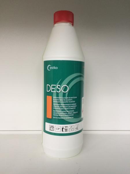 Deso - virsmu, trauku un inventāra mazgāšanas un dezinfekcijas līdzeklis uz hlora bāzes