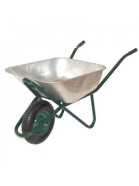 Dārza ķerra 110 L ar vienu riteni cinkota