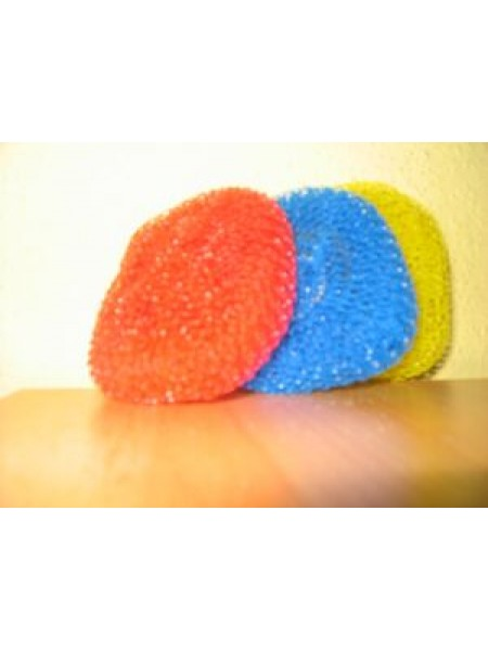 Katliņu beržamais plastmasas 3 gab. AQUALINE - mazais