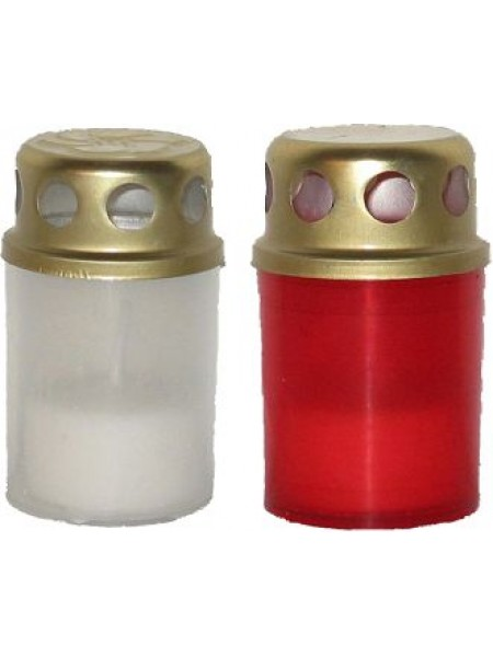 āra svece ar vāciņu/Ø5cm/plastm./ balta/Sarkana (28)