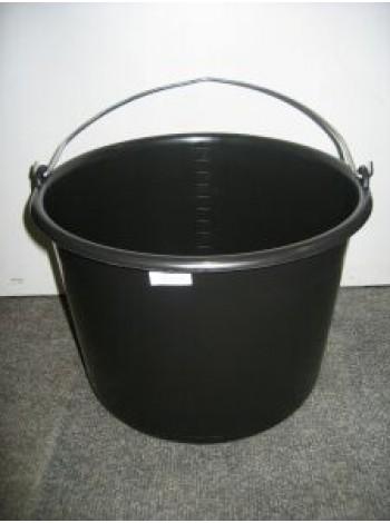 Plastmasas spainis 12L melns ar metāla rokturi un iedaļām
