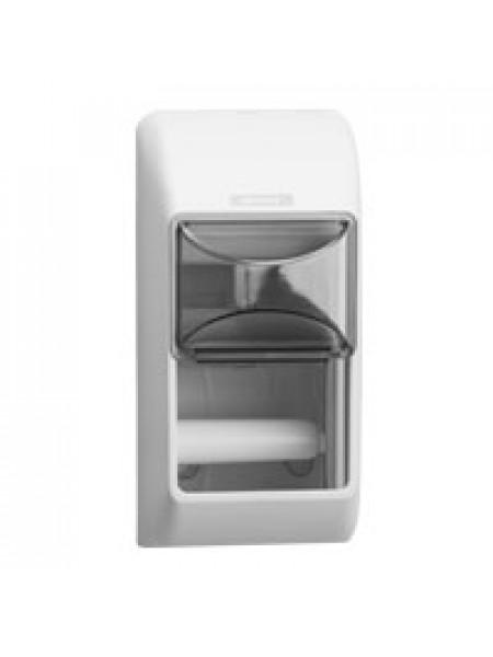 Katrin System toilet turētajs 2 mazajie ruļļiem, balts/melns